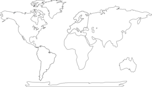 World Map With Continents Clip Art at Clker.com.