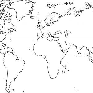 Free Printable Black And White World Map With Countries New.