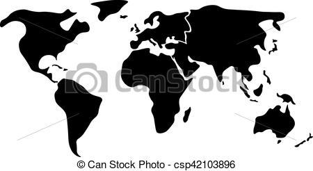 Continents clipart black and white 2 » Clipart Portal.