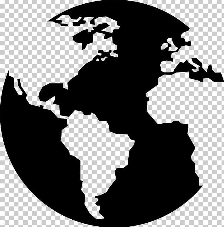 Globe Earth World Map Continent PNG, Clipart, Black And White.