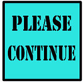 Drawing of please continue sign k12800803.
