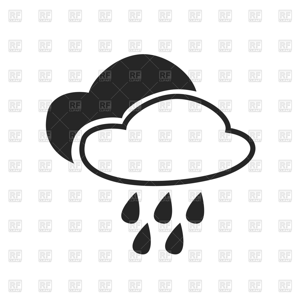 Continuous rainfall clipart #1