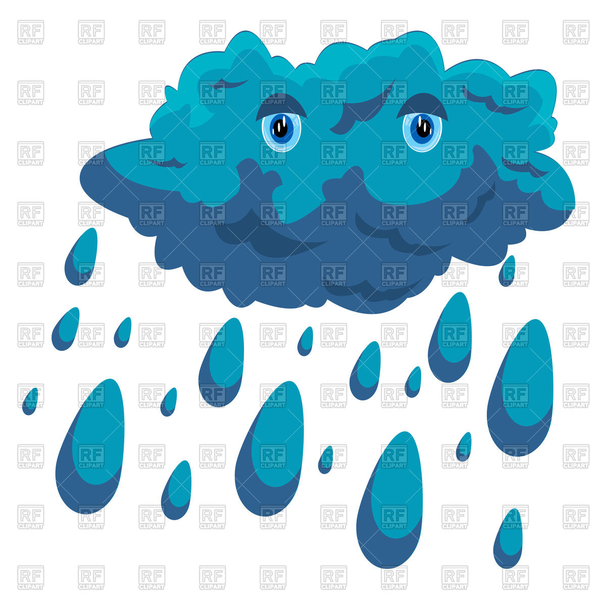 Rainy cloud Vector Image #91427.