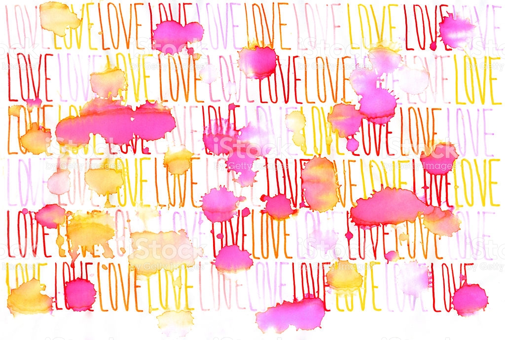 Continuous Word Love Under Rain stock vector art 124880419.