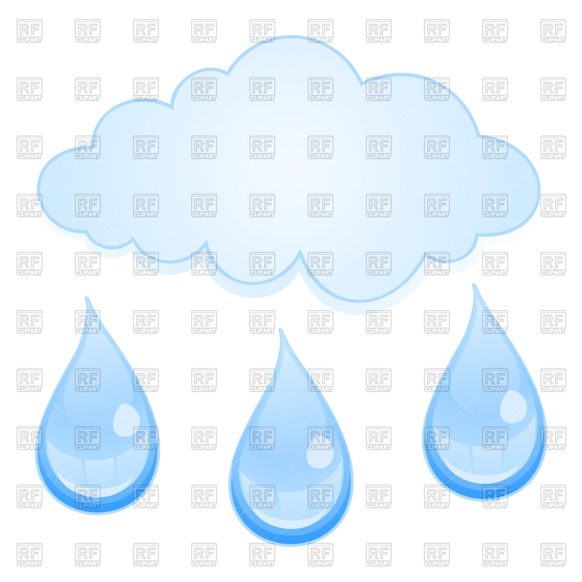 Rain drops from cloud Vector Image #80358.