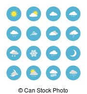 Clip Art Vector of Heavy rain continuous. Mist. Fog. Weather.