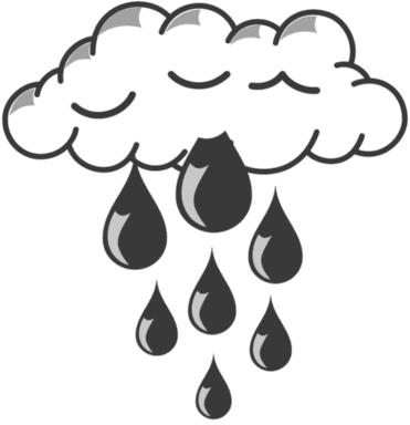 Continuous rainfall clipart #12