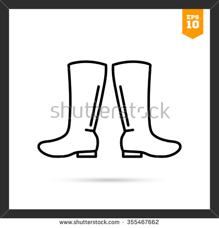 Continuous Line Drawing Rain Boots Stock Vector 501656974.