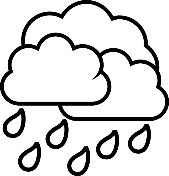 Continuous rainfall clipart #8