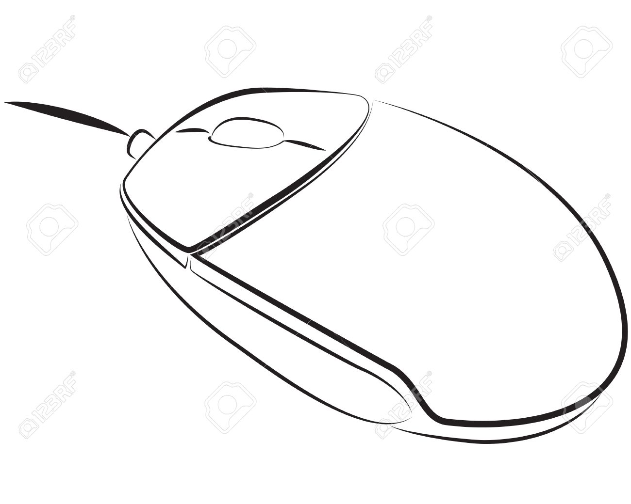 Pc Mouse Outline Contour Royalty Free Cliparts, Vectors, And Stock.