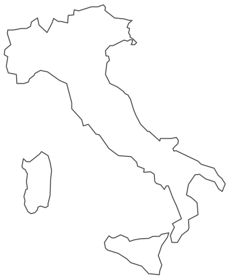 Clipart map of italy.