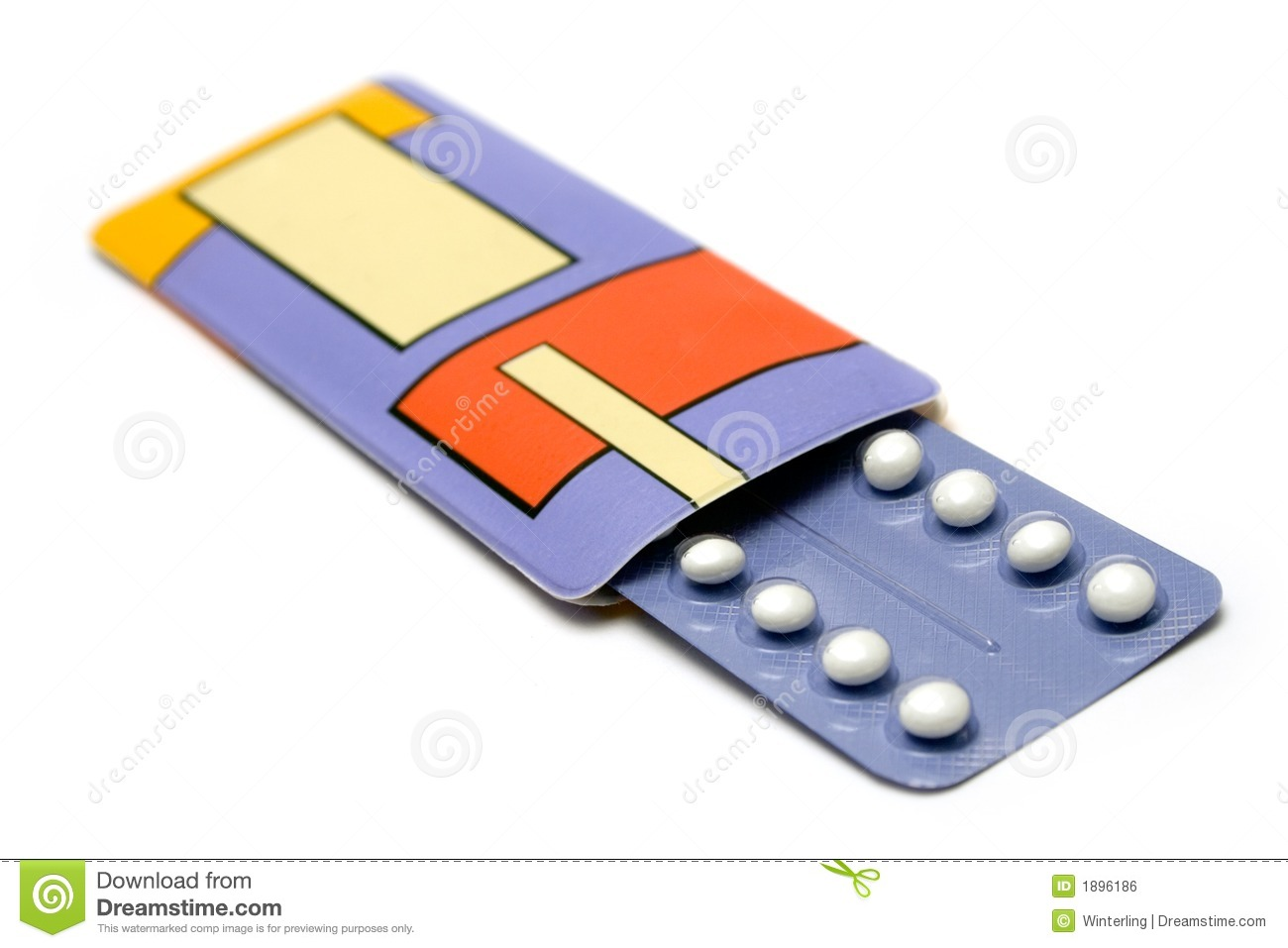 Birth Control Pills Stock Photography.