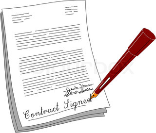 Contract clipart - Clipground