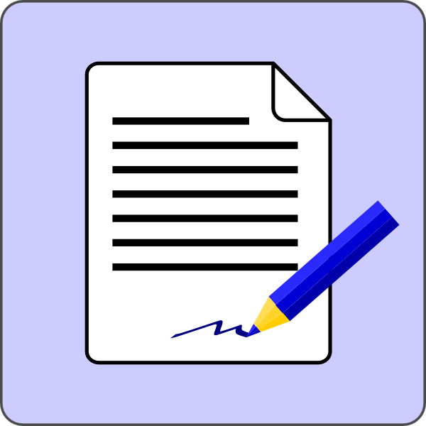 Animated Contracts Clipart.