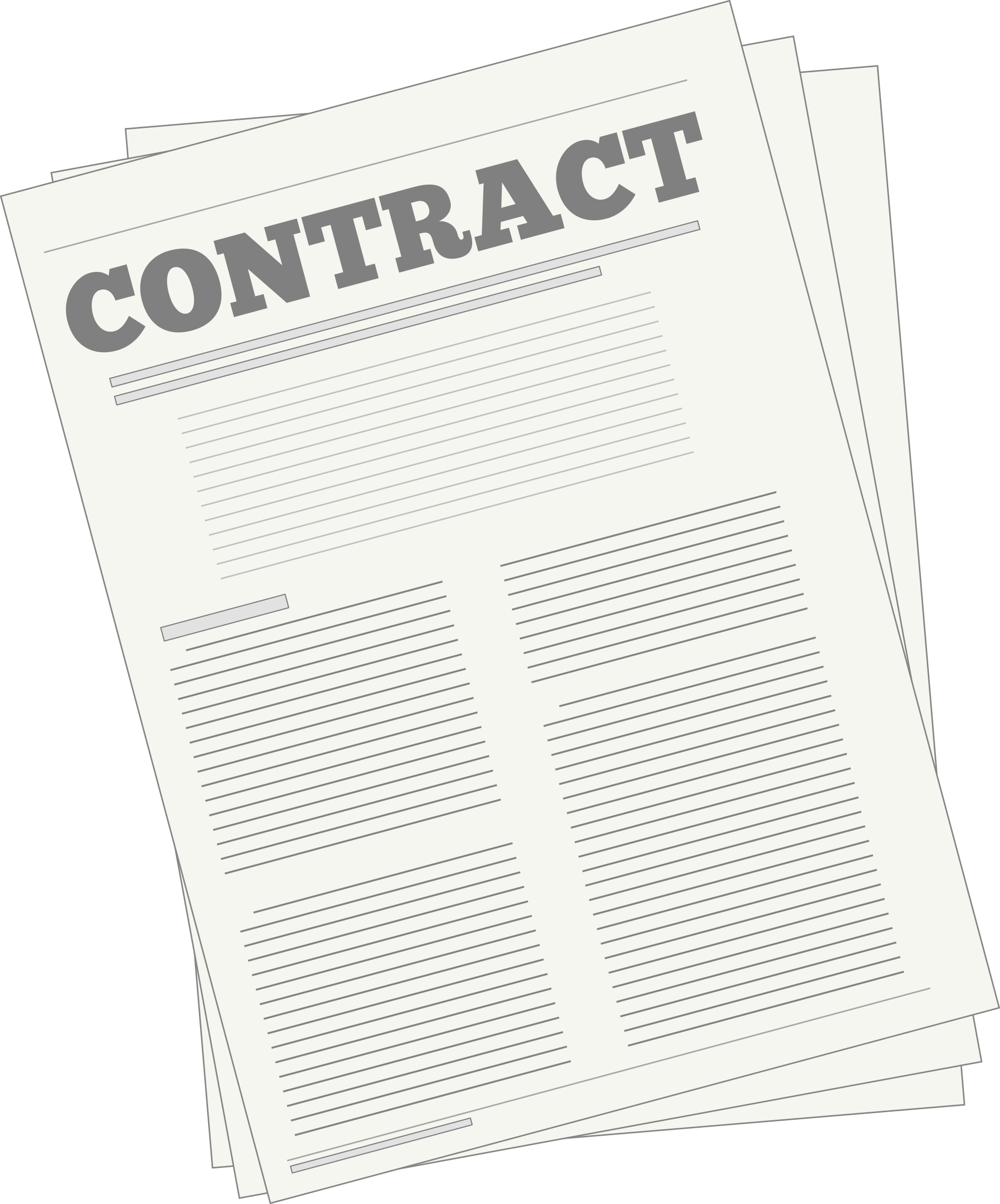 Contracts Clip Art.