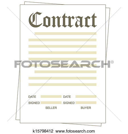 Clipart of Contract k15798412.