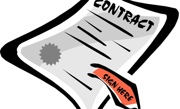 Contract Clipart.