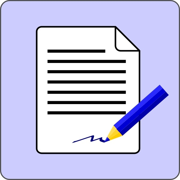 Sign Document Contract Icon clip art Free vector in Open.