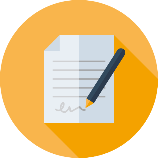 Contract Paper PNG Icon.