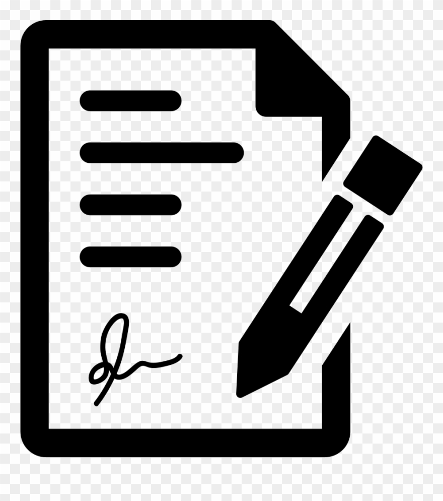 Signing The Contract Svg Png Icon Free Download.