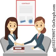 Contract Signing Clip Art.