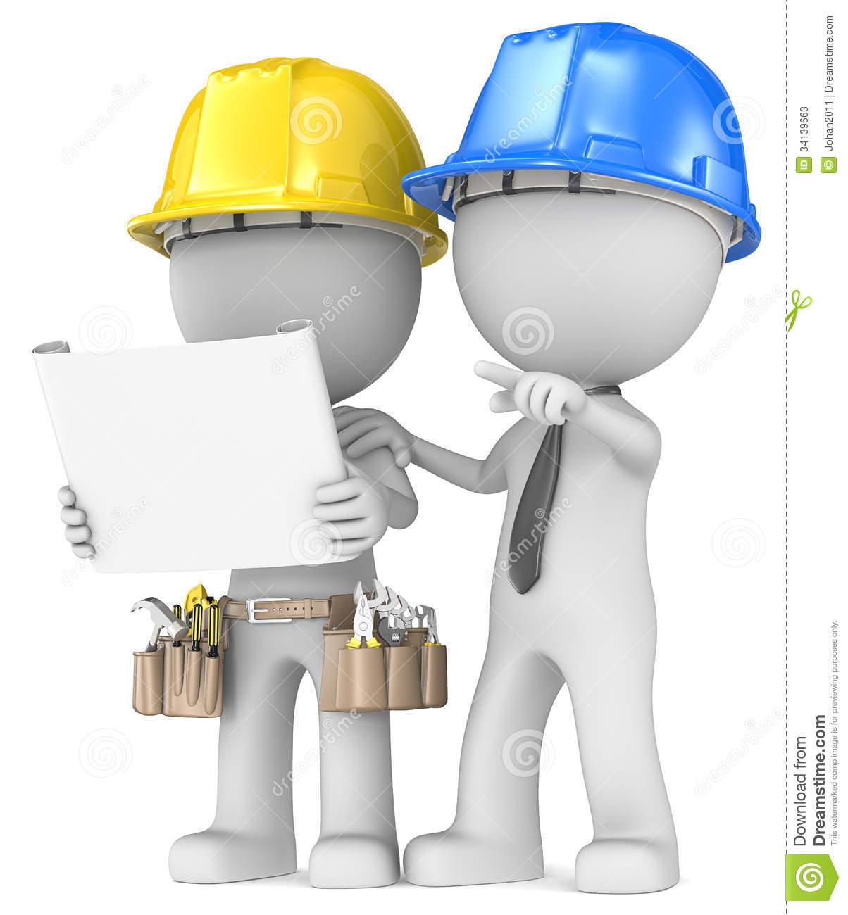 Clip Art Contractors Construction.