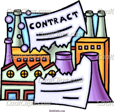 broken contract Vector Clip art.