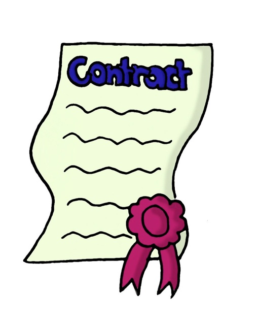 Clip Art Contract Agreement Clipart.