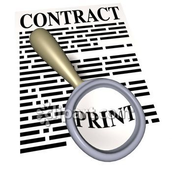 Clip Art Contract Forms Clipart.