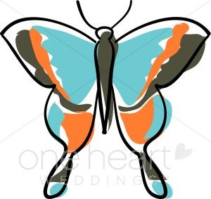 Blue Butterfly Clip Art.