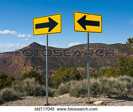 Stock Image of Contradictory Road Signs bld117045.