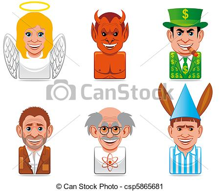 Clipart of Avatar people icons (contrary csp5865681.
