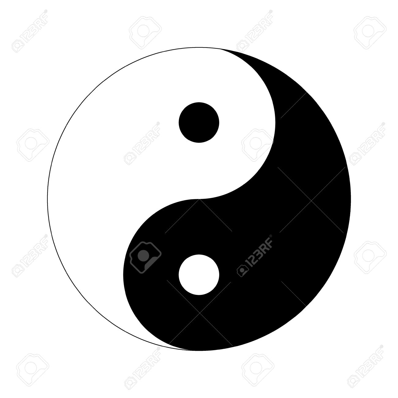 Yin Yang Day Night Opposite Or Contrary Forces Stock Photo.