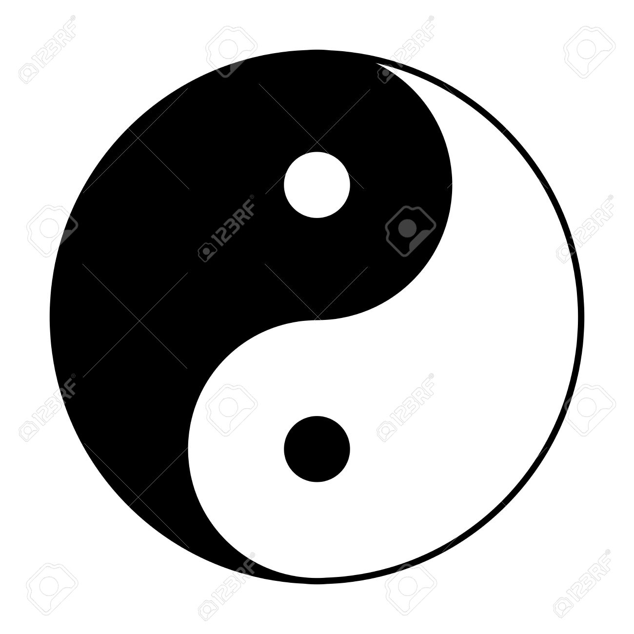 Yin Yang Symbol Of Chinese Phylosophy Describes How Opposite.