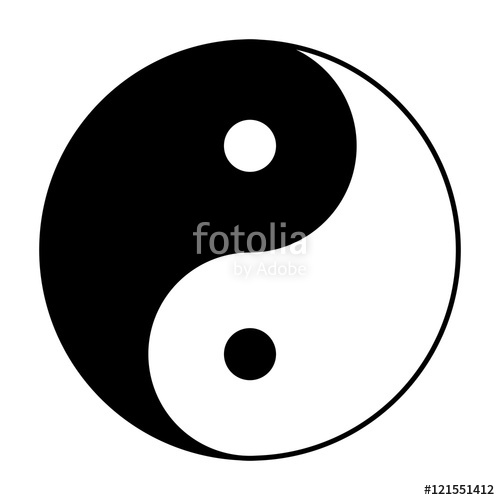 Yin Yang symbol of Chinese phylosophy describes how opposite and.