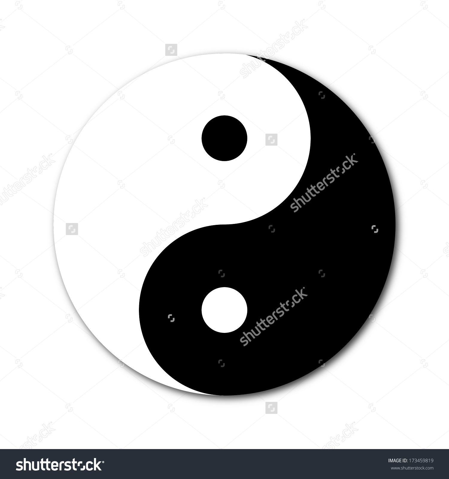 Yin Yang Day Night Opposite Contrary Stock Illustration 173459819.