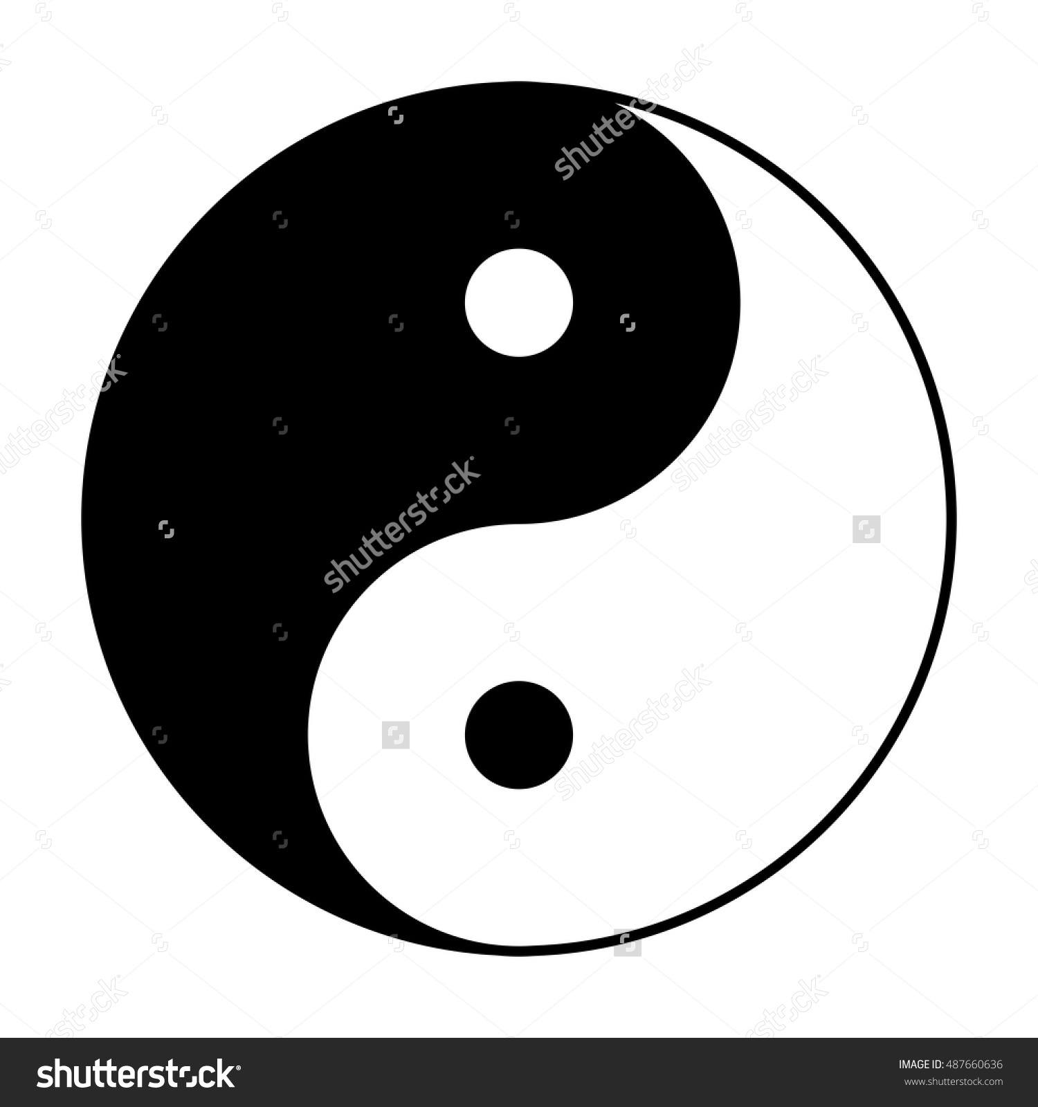 Yin Yang Symbol Chinese Phylosophy Describes Stock Vector.