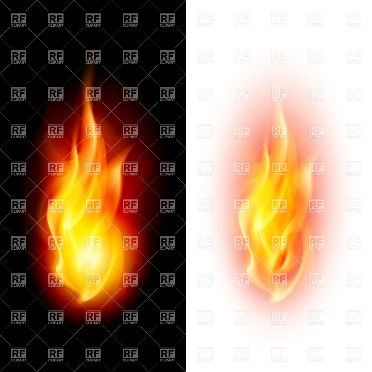 Free clipart flames with white background.
