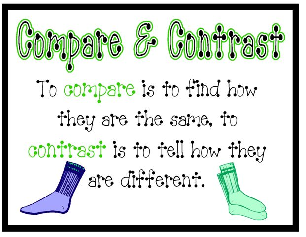 1000+ images about compare and contrast on Pinterest.
