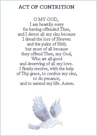 The Act of Contrition.