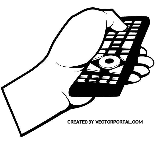 REMOTE CONTROL VECTOR CLIP ART.