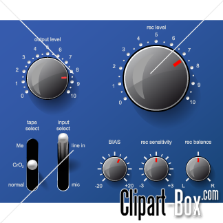 CLIPART MUSIC CONTROL PANEL.