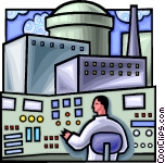 Nuclear power plant control room Clip Art.