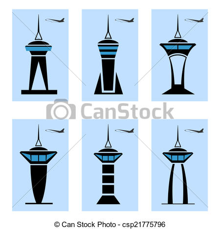 Control tower Stock Illustration Images. 947 Control tower.