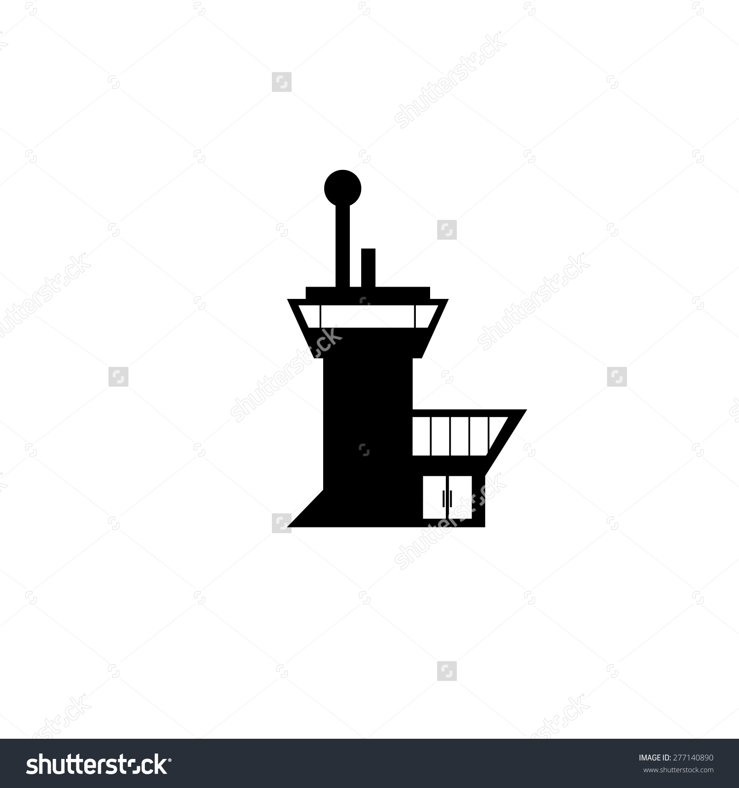 Airport Control Tower Terminal Building Stock Vector 277140890.