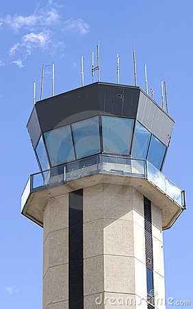 Small Airport Control Tower Royalty Free Stock Photos.