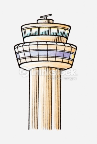 Illustration Of Airport Control Tower Stock Illustration.