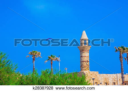 Pictures of Minaret, palm and controllable parachute k28387928.