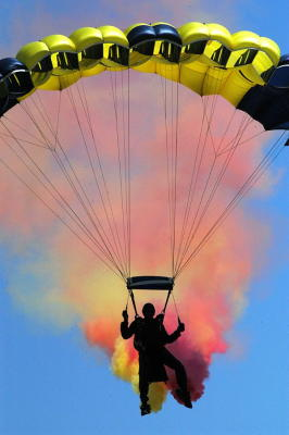 How parachutes work.
