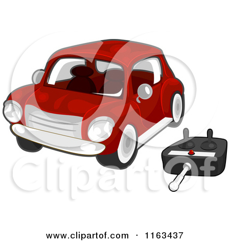 Cartoon of a Red Remote Controlled Car.